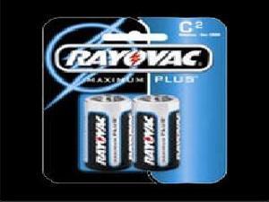 RAYOVAC BATTERIES RV8142F ALKALINE C CELL BATTERIES  2-PACK