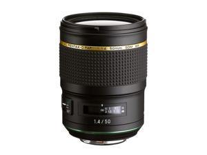 Pentax HD Pentax D FA 50mm 1.4 SDM AW Full Frame, All Weather Camera Lens, Black