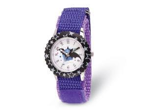 Disney Girls Vampirina Purple Strap Time Teacher Watch