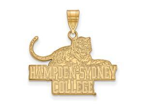 NCAA 14k Gold Plated Silver Hampden Sydney College Large Pendant