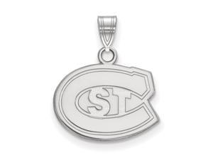 NCAA 10k White Gold St. Cloud State Small Pendant