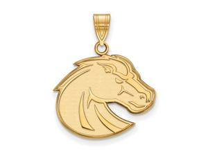 NCAA 10k Yellow Gold Boise State Large Pendant
