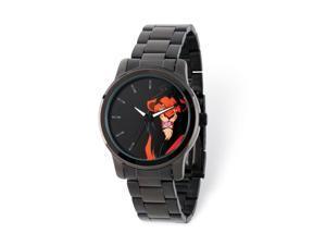 Disney Adult Size Black-plated Lion King Scar Watch
