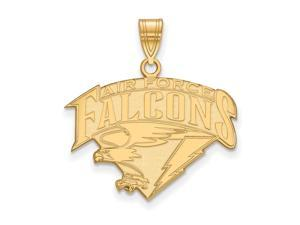 NCAA 14k Yellow Gold Air force Academy Large Pendant