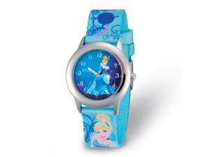 Disney Girls Cinderella Blue Strap Time Teacher Watch