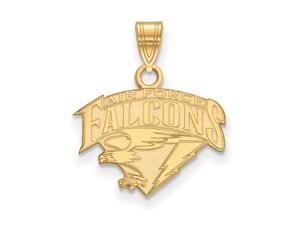 NCAA 14k Yellow Gold Air force Academy Small Pendant