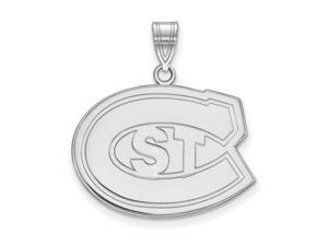 NCAA 14k White Gold St. Cloud State Large Pendant