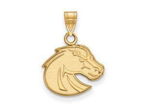 NCAA 14k Gold Plated Silver Boise State Small Pendant