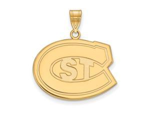 NCAA 14k Gold Plated Silver St. Cloud State U. Large Pendant