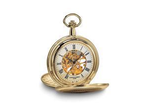Charles Hubert Gold Tone Finish White Dial 48mm Pocket Watch