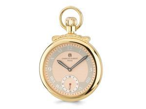 Charles Hubert Gold Finish Champagne Dial Open Face Pocket Watch