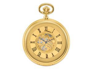 Charles Hubert Gold Finish Double Cover Open Window Pocket Watch