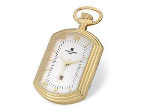Charles Hubert Gold Finiah Open Face Rectangular Pocket Watch