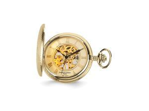 Charles Hubert Gold Finish Brass Skeleton Pocket Watch