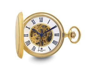 Charles Hubert Gold Finish Open Window Case Pocket Watch