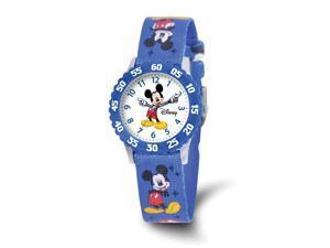 Disney Girls Mickey Mouse Blue Printed Fabric Time Teacher Watch