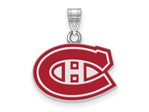 Sterling Silver NHL Montreal Canadiens SM Enamel Pendant