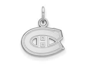 14k White Gold NHL Montreal Canadiens XS Charm or Pendant