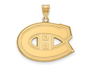 10k Yellow Gold NHL Montreal Canadiens Large Pendant