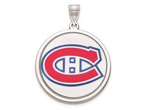Sterling Silver NHL Montreal Canadiens Logo Picture Disc Pendant