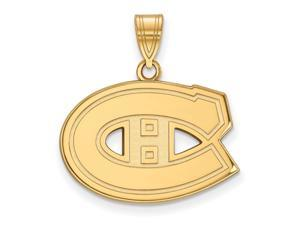 SS 14k Yellow Gold Plated NHL Montreal Canadiens Medium Pendant