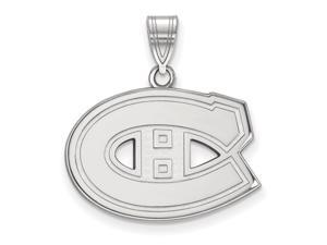 14k White Gold NHL Montreal Canadiens Medium Pendant