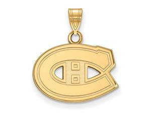 10k Yellow Gold NHL Montreal Canadiens Small Pendant