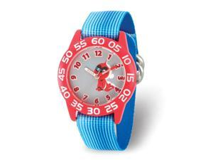 Disney Boys Incredibles 2 Baby Blue Stretch Band Time Teacher Watch