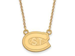 NCAA 10k Yellow Gold St. Cloud State Small Pendant Necklace