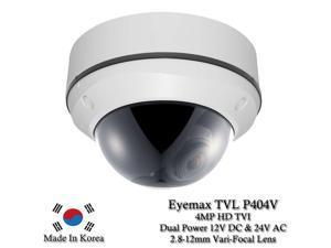 Eyemax Storm Series TVL-P404V 4MP HD-TVI Vandal DOME Camera 2.8-12mm Dual Power