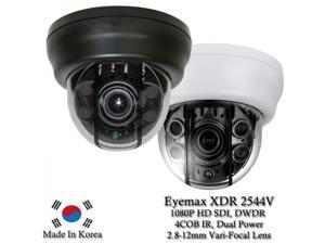 Eyemax Superdome Series Indoor IR Dome 1080P HD-SDI Camera XDR-2544V, 2.8-12mm Dual Power ( Made In Korea ) Black case