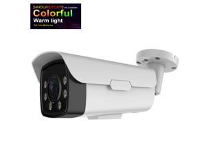 Full Color Night Vision View Long Range Bullet HD TVI 4 In One CCTV Camera 6mm zoom Fixed Lens 1080P to 5MP Changeable Lights upto 196FT 12V DC