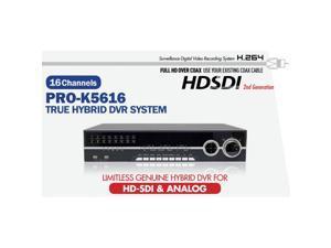 Eyemax Pro Prime Series HD SDI Hybrid 16CH 1080P Real Time DVR System App : Mviewer 2TB
