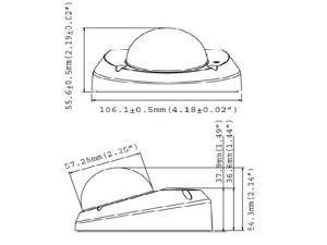 GEOVISION 3 Megapixel Network IP Camera: Full 1080p HD Mini Dome, 2.54mm WIDE lens, Mic, PoE, GV-MFD320