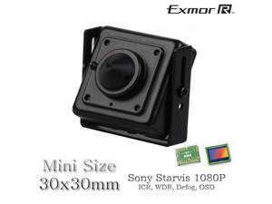 Mini HD TVI 2.1MP sony exmor starvis low light 1080P square cctv camera 3.7mm pinhole OSD 4 in 1