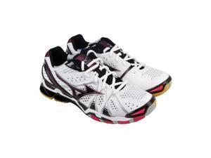 Mizuno Wave Tornado 9 White Black Violet Womens Athletic Running Shoes