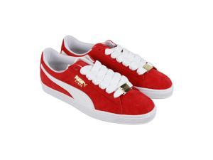e1d0038f47ff Puma Suede Classic B.Boy Fabulous Flame Scarlet White Mens Lace Up Sneakers