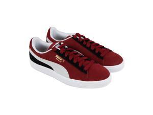 957427dd2e3a Puma Suede Classic Pomegranate White Black Mens Lace Up Sneakers