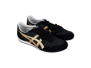 cheaper e96f2 4b153 Onitsuka Tiger Serrano Black Pale Gold Mens Low Top Sneakers