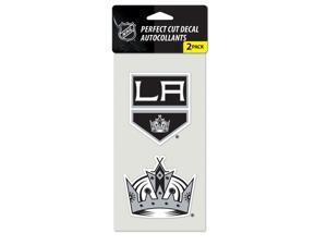 "Los Angeles Kings Official NHL 4""x4"" each Die Cut Car Decal 2-Pack by Wincraft"