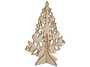 """Wood Flourishes-Small Stand-Up Tree 4.75"""""""