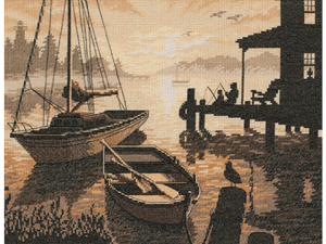 """Peaceful Silhouette Counted Cross Stitch Kit-13""""X10"""""""
