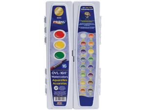 Prang Professional Watercolors 16 Assorted Colors 16000