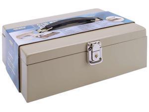 SteelMaster Heavy-Duty Steel Cash Box w/7 Compartments Latch Lock Sand 221612003