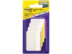 Post-it File Tabs 2 x 1 1/2 Lined Assorted Primary Colors 24/Pack 686F1