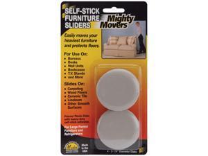 """Furniture Glide,Self-Stick,Rd,2-1/4"""",PK4 MASTER CASTER 87003"""