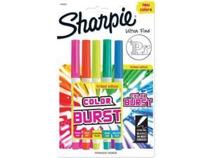 Sharpie Color Burst Ultra Fine Permanent Markers 5/Pkg-Assorted