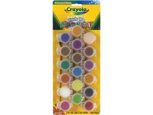 Crayola Washable Kids' Paint Pots, Assorted 54-0125