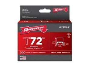 """Arrow Fastener 721189 11/32"""" x 19/32"""" T72 Insulated Staples"""