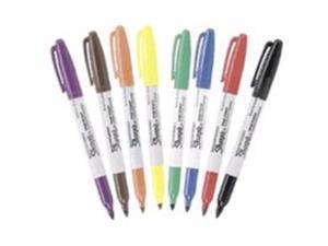Sharpie Permanent Marker Pens Fine Point 8/Colors